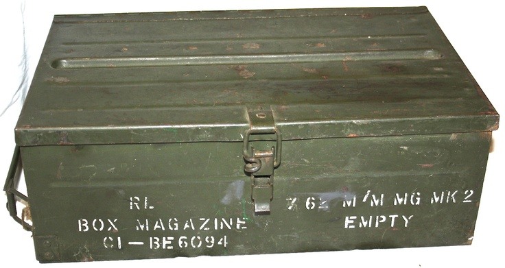 Old ammunition trunks
