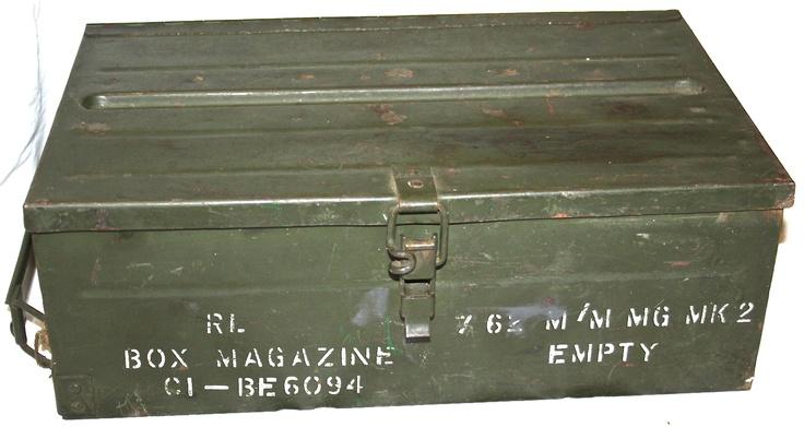 Old ammunition trunks