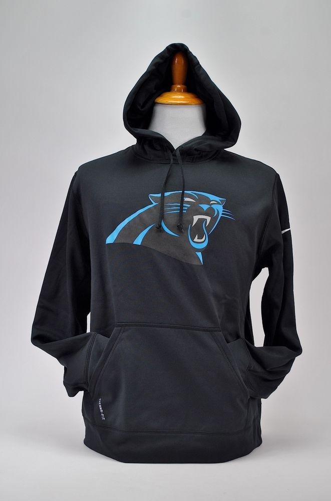 Nike Men s NFL Carolina Panthers Hoodie Black Size Large Therma-Fit  Training Gym  Nike  CoatsJackets 30073c114