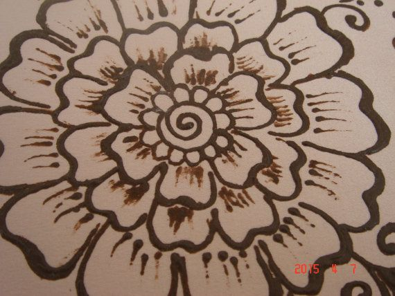Henna design painting wall decor by TheHennaGrove on Etsy