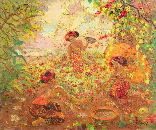Adrien Jean Le Mayeur De Merprés - Ni Pollok in the Garden