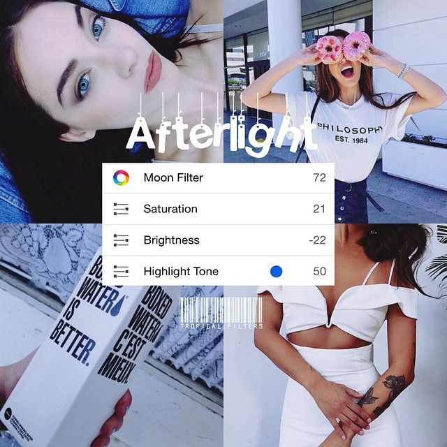 bright blue afterlight filter! This looks especially good on white and black, good for selfies if you have paleish skin. It also enhances the blue in photos - - coffee or tea?