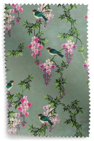 Buy Digital Birds Blackout Lined Eyelet Curtains from the Next UK online shop