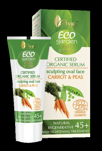 Eco Garden Line - Certifed Organic face oval modelling serum carrot & peas