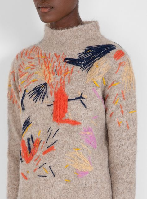 EMBROIDERED KNIT - RACHEL COMMEY
