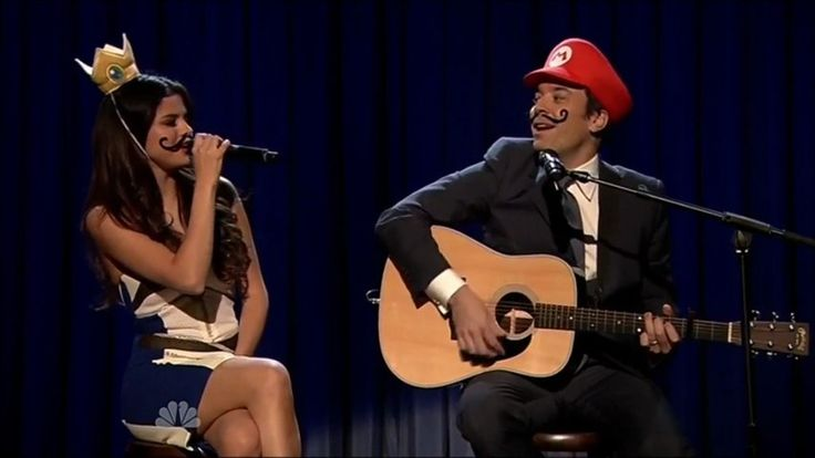 "Jimmy Fallon & Selena Gomez Cover ""Mario Kart Love Song"""