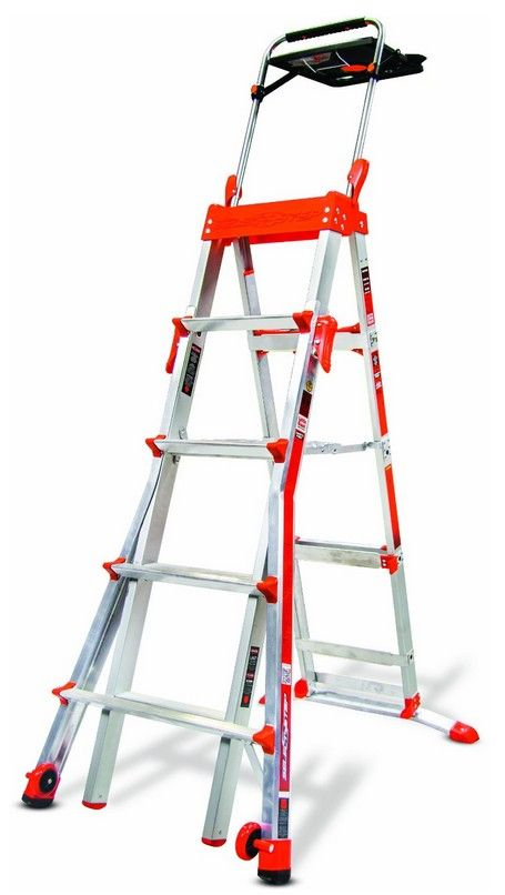 Deal of the Day: Save 44% off a Little Giant Adjustable Step Ladder for 10/21/2014 only! The Little Giant Select Step 5-feet to 8-feet 300-pound duty rating adjustable step ladder provides a comfortable standing platform and is safe to use on staircases and uneven surfaces. This lightweight ladder is easy to move from one job to the next. $168.00 (44% off) A 5, 6, 7, & 8-foot stepladder in one Safe to use on staircases and uneven surfaces The 120 sq. in >>> read more