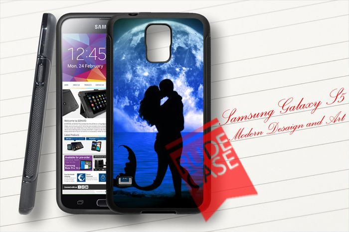Samsung Galaxy S5 Custom Mermaid Kiss Love Rubber Case