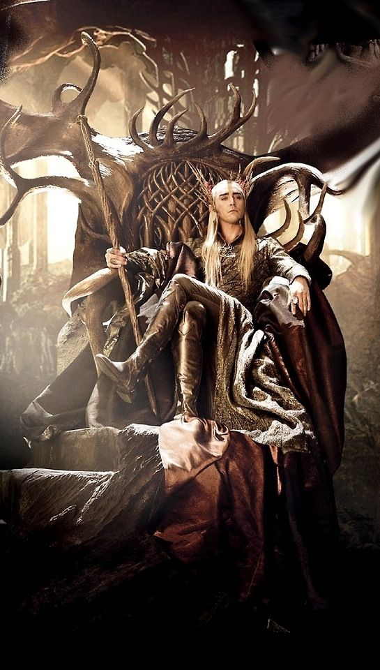 I want his boots.  And his leggings.  His robe too.  Ooh!  And his scepter thing.  All right, I'll just take Thranduil - the whole dude.