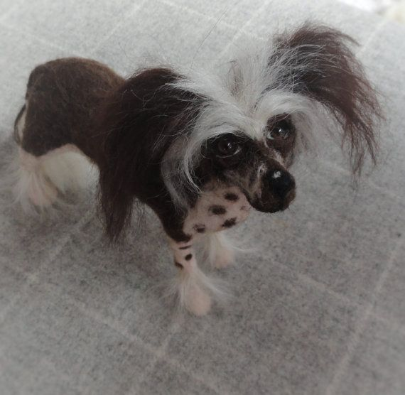 presentswithpaws                              now sold Needle felted Chinese crested dog