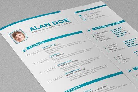 Creativemarket Professional Resume & Cover Letter 41785
