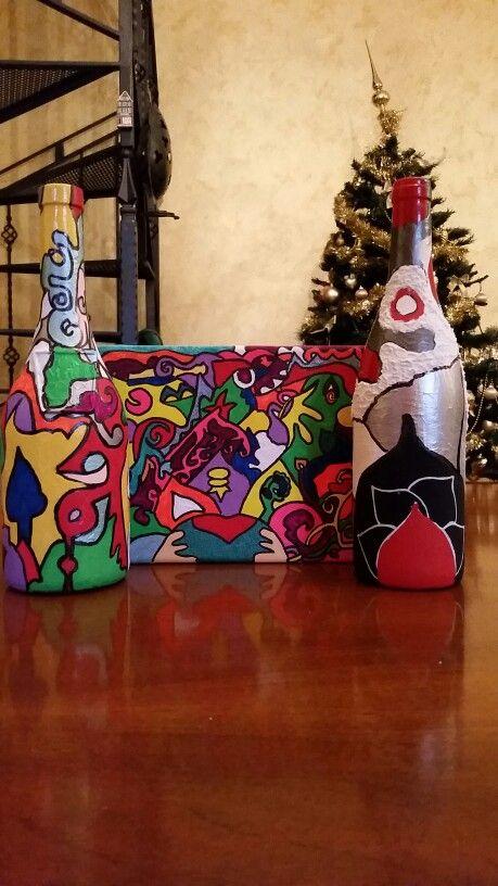 Bottiglie dipinte