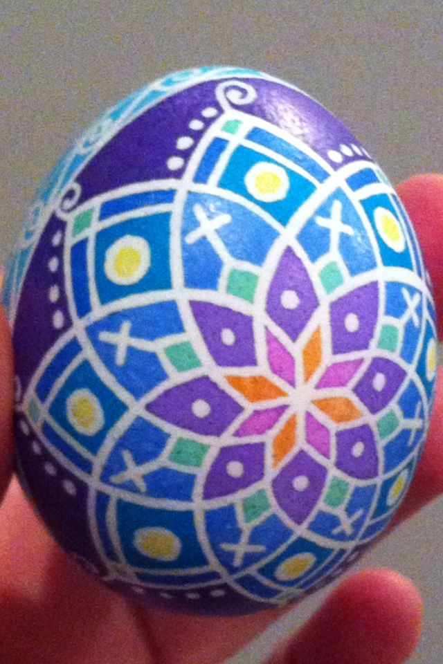 232 Best Purple Blue Green Pysanky Images On Pinterest