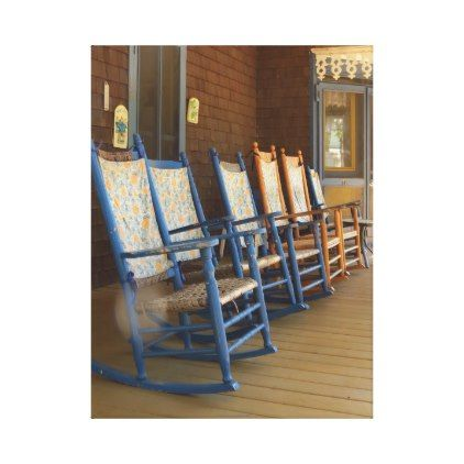 Rocking Chairs on Porch Martha's Vineyard Cottage Canvas Print - photo gifts cyo photos personalize