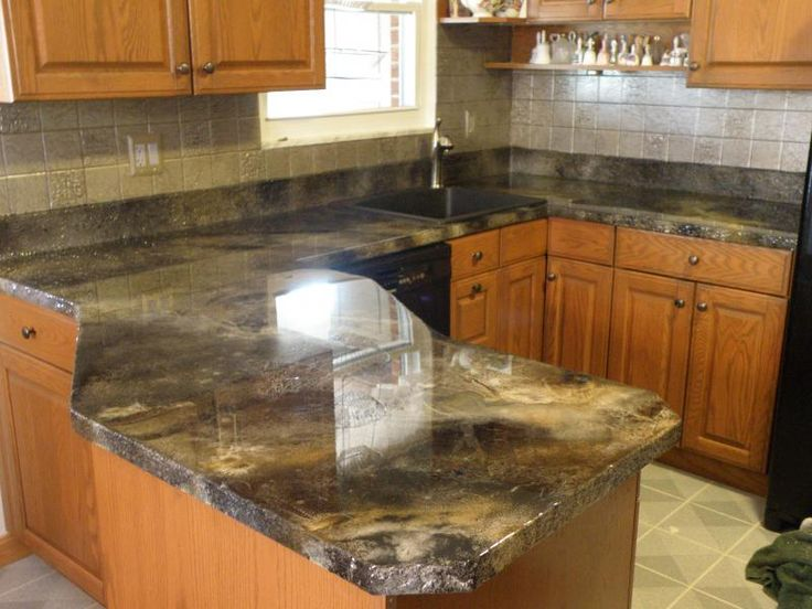 Best 25 Stained Concrete Countertops Ideas On Pinterest
