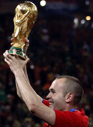 Andrés Iniesta. Nederland 0 - 1 España, 11 July 2010, Final FIFA World Cup