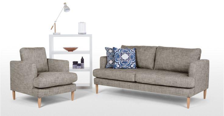 Kotka, un canapé 2 places, charbon vintage | made.com