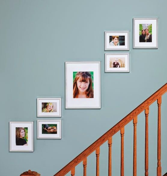 50 best staircase wall decorating ideas images on for Decorating a staircase wall
