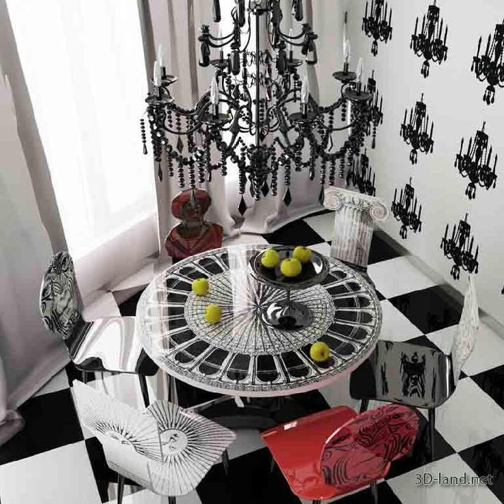 Fornasetti Chairs And Dinning Table! I Want To Be Invited To That Party!