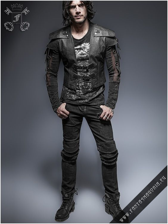 Y-632 Burzum synthetic leather top (vest) made by punk rave | Fantasmagoria.eu - Gothic Fashion boutique