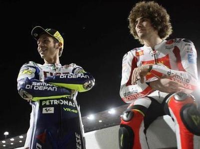 Marco Simoncelli #SIC58 #motogp and Valentino Rossi #VR46