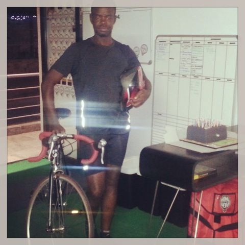Blessing & his Bike