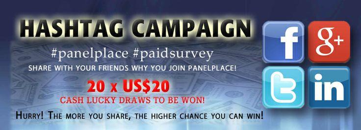 Promotions: Hashtag Campaign #2   PanelPlace