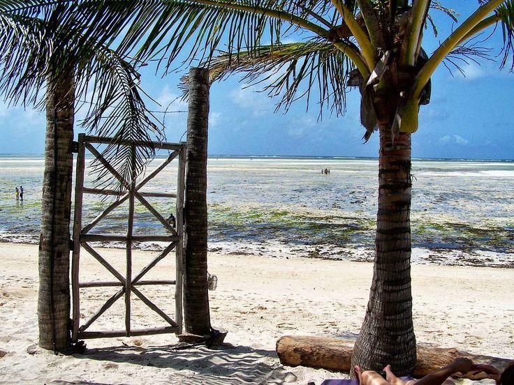 If opportunity doesn't knock build a door. (Milton Berle)  Love this door on the beach in Watamu