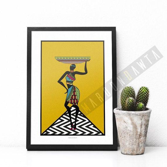 Queen Afua  African Queen Poster  Black Queen Print  A3