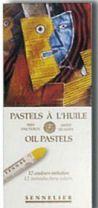 Set of 12 Assorted Sennelier Oil Pastels