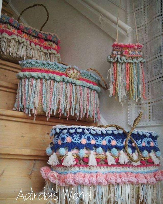 Tassen haken, bijna net zo leuk als stola haken! #crochetdesign #crochetlover…