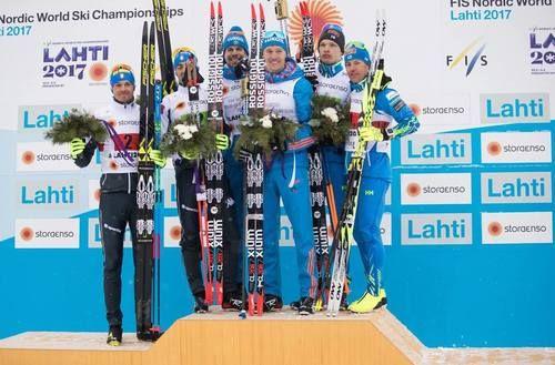 Congratulations for the top 3 of Men Team Sprint (C)    1. Russia (Nikita Kriukov and Sergey Ustiugov)  2. Italy (Dietmar Nöckler and Federico Pellegrino)  3. Finland (Sami Jauhojärvi and Iivo Niskanen)  Nordic World Ski Championships, Lahti, Finland, February 2017