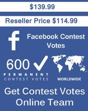 Buy 600 Facebook Application Votes at $114.99 Votes from different USA IP Address Votes from Real Look Facebook Profiles. #buyonlinevotes #buycontestvotes #buyfacebookvotes #getonlinevotes #getcontestvotes #buyvotesforonlinecontest #buyipvotes #getbulkvotes