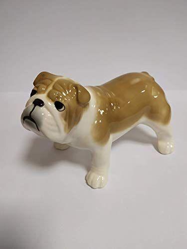 Best Seller English bulldog fawn porcelain figurine