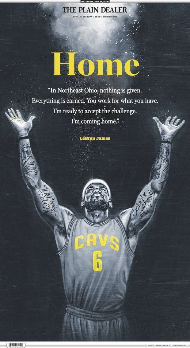 Homecoming King: LeBron James says 'I'm coming home'. James is leaving Miami and will re-sign with the Cleveland Cavaliers. 7-11-14. http://linktick.com/