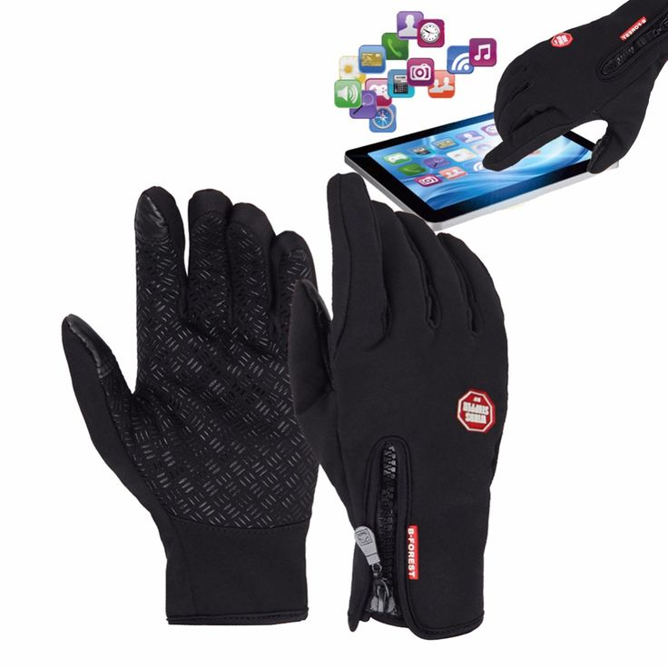Bicycle Cycling Gloves Waterproof Winter Warm Touch Screen Gloves Skiing Motorcycle Windproof Cycling Gloves Hands Warmer