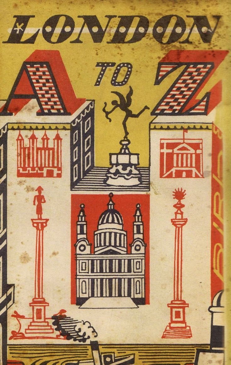 "Cover for ""London A to Z""  by English artist, illustrator & graphic designer Edward Bawden (1903-1989). via once was england"