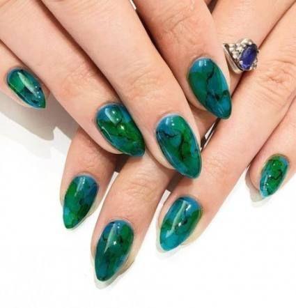 #Schönheit #Grün #Urlaub #Ideen #Nägel #Sommer Nägel grün Urlaubsnägel gr