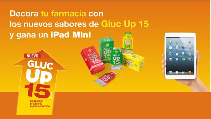 Primer concurso de escaparates de Gluc Up 15 para oficinas de farmacia. Participa y gana un iPad Mini!