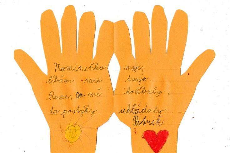 Ruce - přání pro maminku 2. třída
