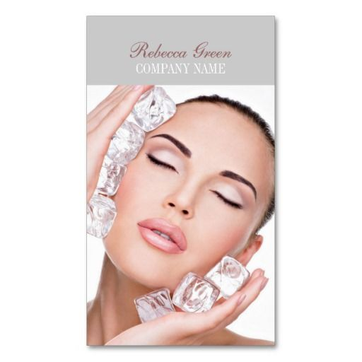 Modern facial skin care makeup artist business cards | Massage ...
