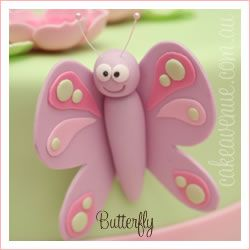 Large butterfly cake topper