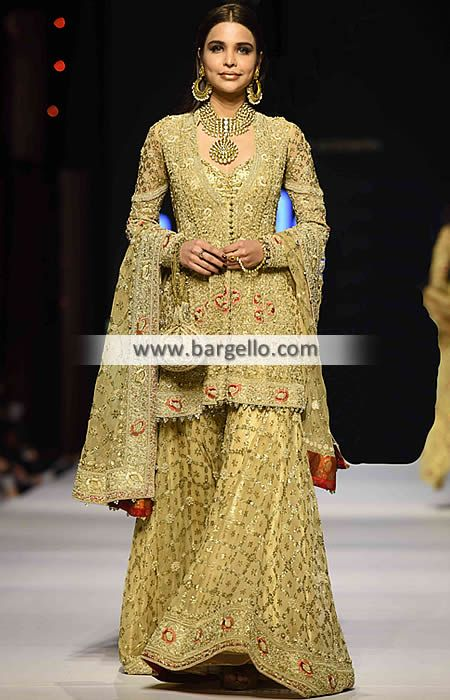 D5666 Appealing Bridal Sharara for Wedding and Special Occasions - UK USA Canada…