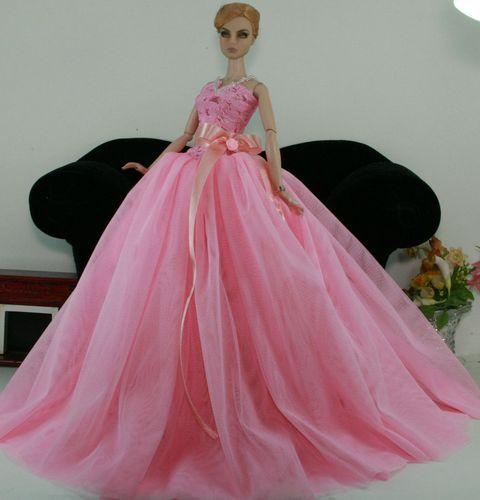 Aphrodai HandMade Fashion Royalty Outfit Barbie Toy Dolls Wedding Bride dress
