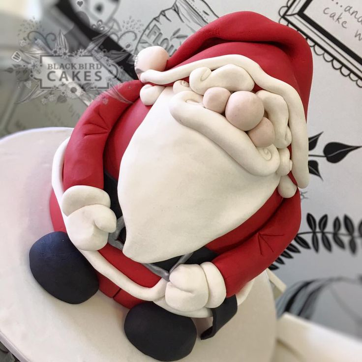 Santa Cake www.blackbirdcakes.com.au