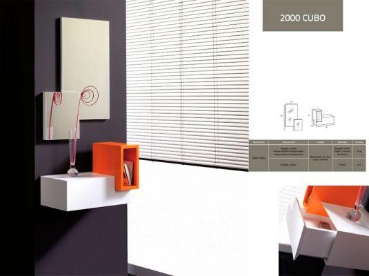 Fotografía del catálogo de muebles auxiliares de la firma MODULEY 2000 CUBO