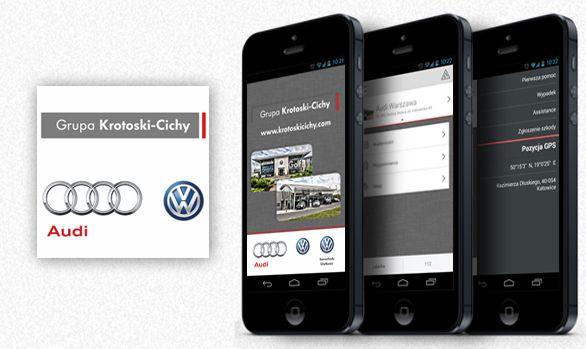 Dla Grupy Krotoski-Cichy przygotowaliśmy aplikacje dla dwóch lokalizacji: Warszawy i Łodzi.  #dealership #mobileapp #aplikacjamobilna #motoryzacja