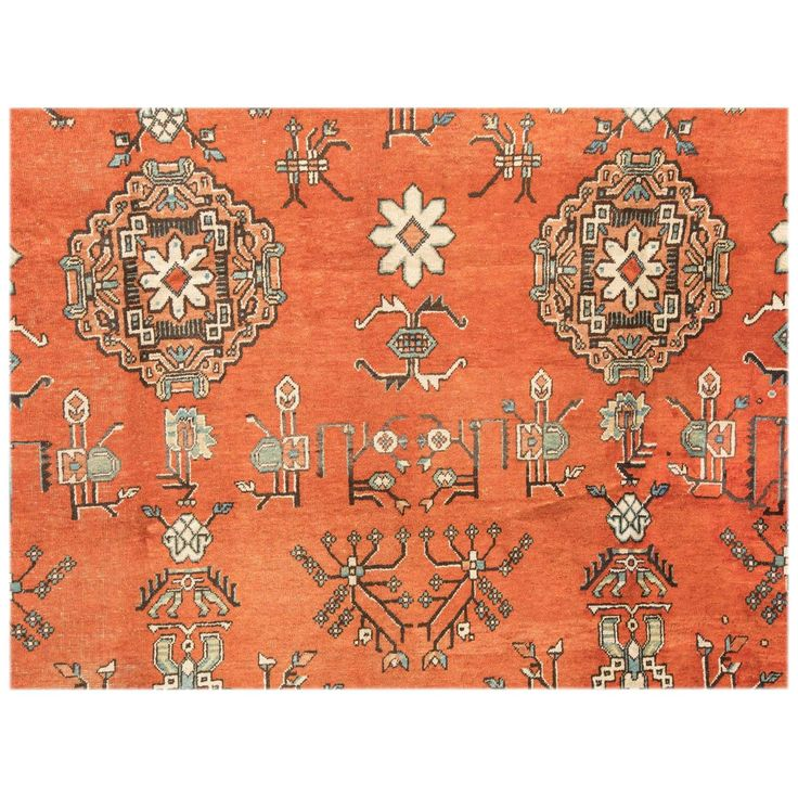 Early 20th Century East Turkestan Khotan Rug | From a unique collection of antique and modern central asian rugs at https://www.1stdibs.com/furniture/rugs-carpets/central-asian-rugs/