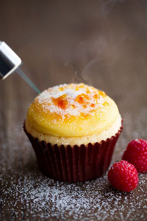 Cupcakes con Crème Brûlée | 23 Deliciosos cupcakes inspirados en otros postres