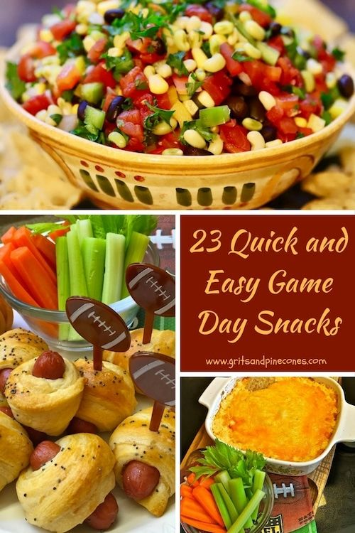Whether you are tailgating with your friends, hosting a game day party, or watching the game on TV, these delicious touchdown worthy appetizers and snacks will help youscore big!  #game day snacks, #tailgating snacks via @gritspinecones